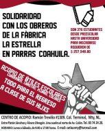 Trabajadores Fabrica la Estrella en Parras Coahuila en Huelga