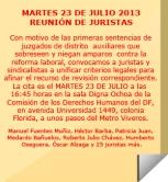 Reunión de Juristas 23 julio 2013